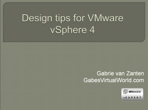 Design tips for VMware vSphere 4