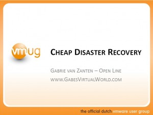 Cheap Disaster Recovery