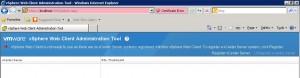 vSphere Web Client admin interface
