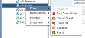 vSphere Web Client interface