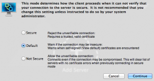 Changing security settings for VMware View PCoIP for OSX client