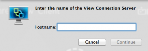 Adding host to VMware View PCoIP for OSX client