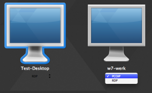 Choose protocol RDP or PCoIP with VMware View PCoIP for OSX client