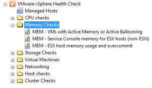 VMware vSphere Memory Health Check