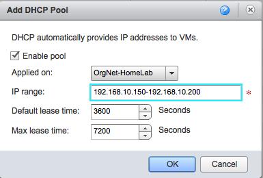 VCloud DHCP