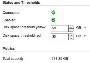 vCloud disk thresholds